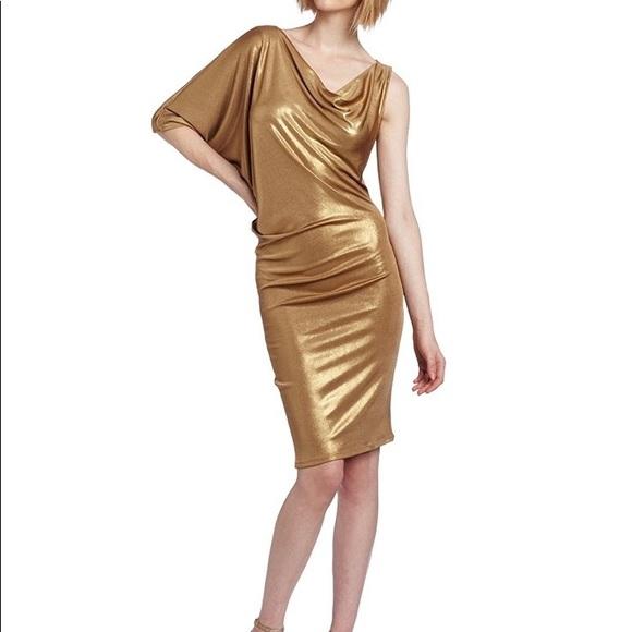 89ec13df0c3d BCBG ❤ DRESS GOLD METALLIC BATWING DOLMAN. Boutique. BCBGMaxAzria